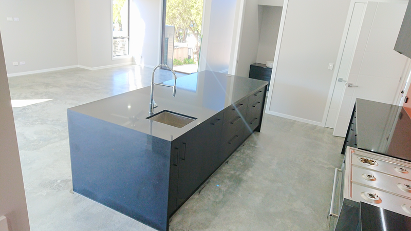 Industrial kitchen, Black matte kitchen, Undermount sink, Black kitchen island